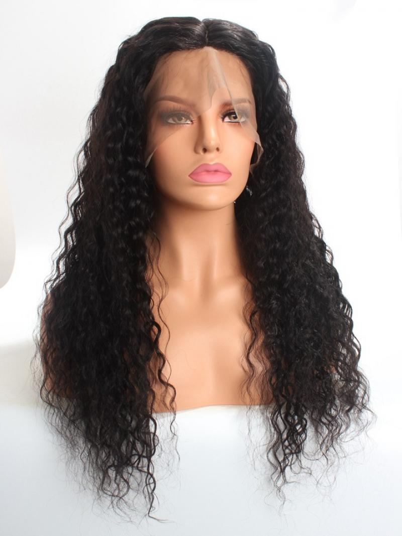 Gorgeous Silk Top Full Lace Human Hair Curly Wig