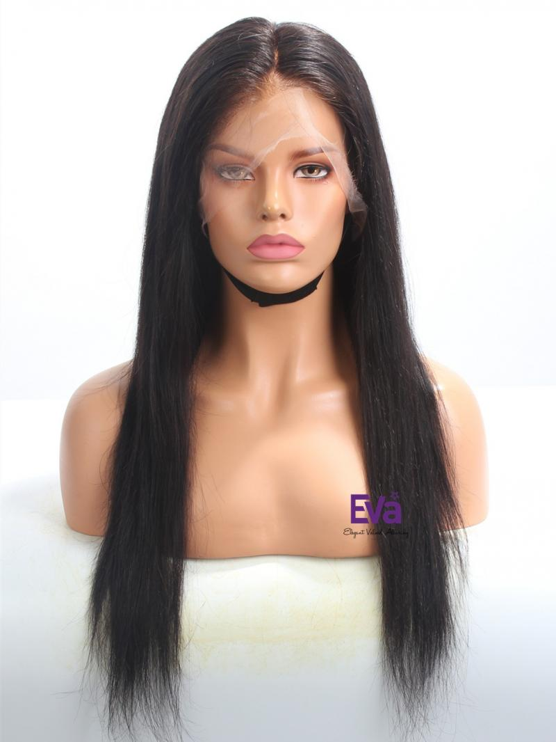 Ready To Ship Invisible HD Lace Black Straight Full Lace Wig