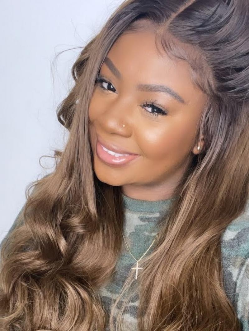 Super Natural Blonde Ombre Lace Wig