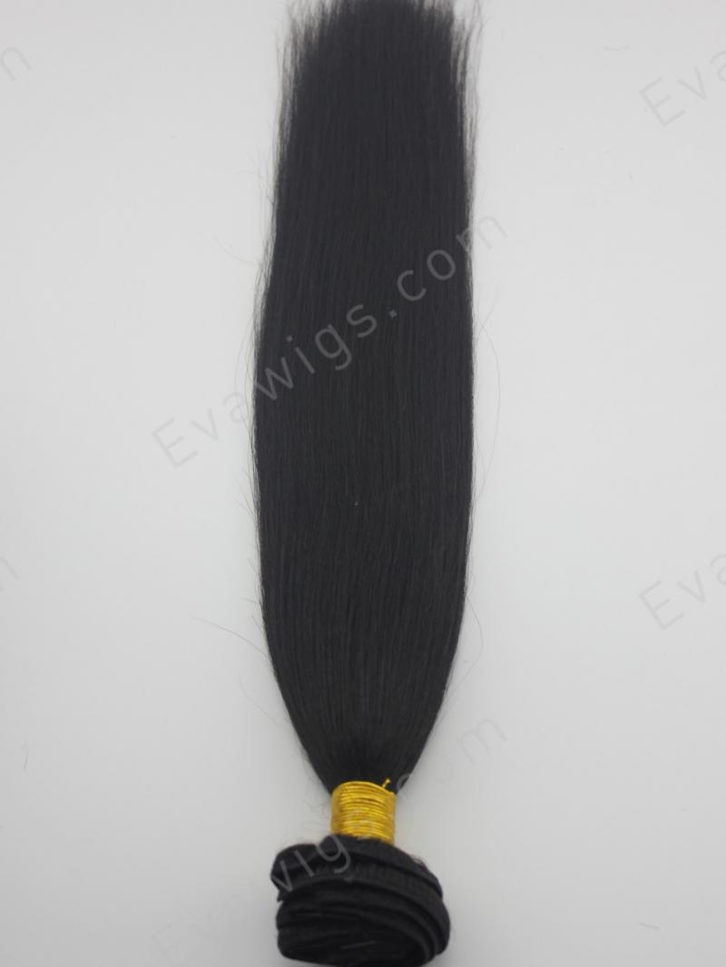 Yaki Straight High Quality Human Hair Clip In Hair Extension