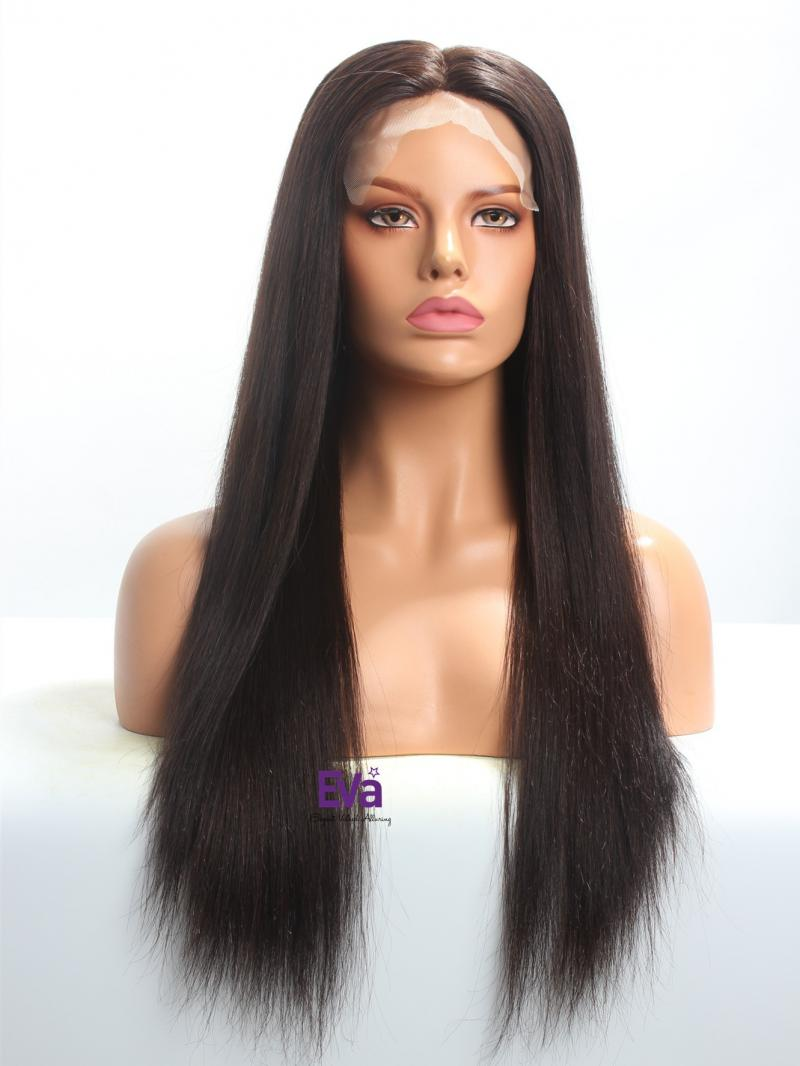 "20"" Silk Top Soft Straight Virgin Hair Full Lace Wig"