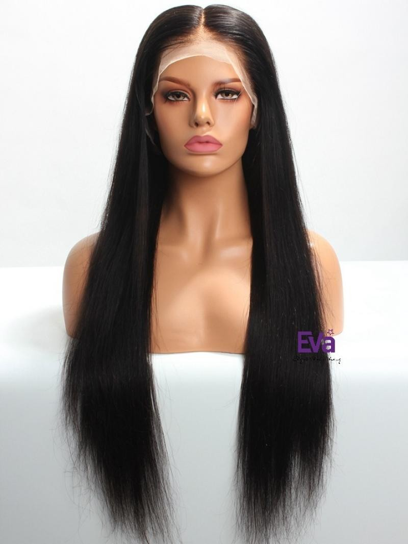 "18"" 150% 6"" LACE FRONT LARGE SIZE WIG WITH FAKE SCALP"