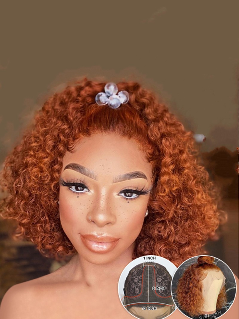 NEW IN 14 INCH #130 COLOR T CAP CONSTRUCTION CURLY WIG