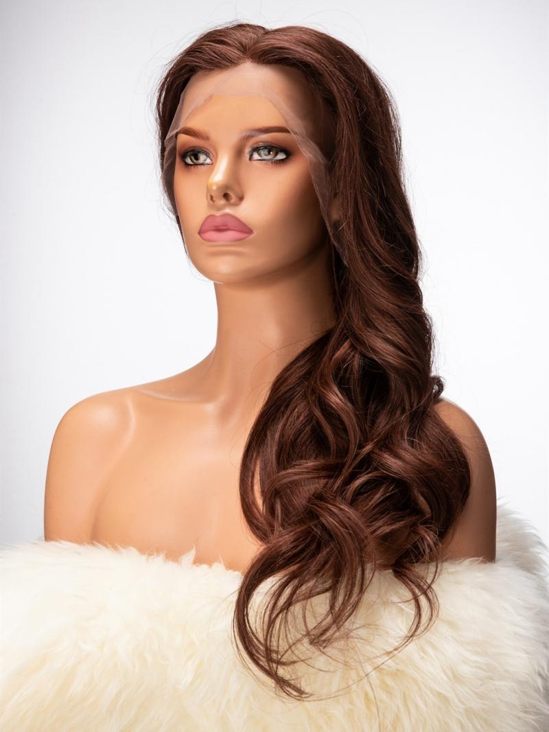 "New Wavy 3"" Lace Frontal Human Hair Wig"