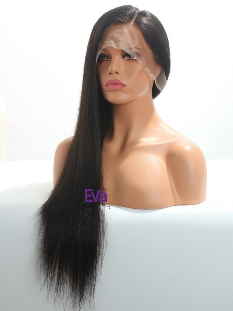 Luxury Long Straight 100% Virgin Human Hair Full Lace Wig