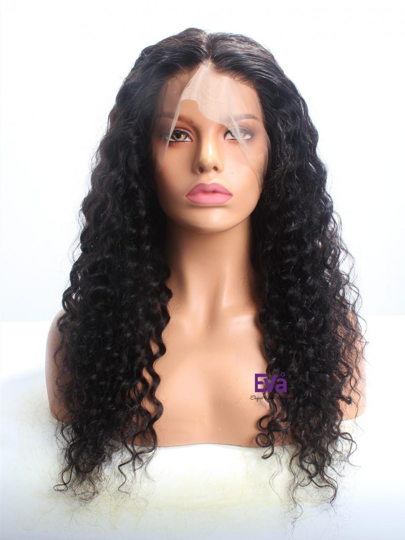 """Ready To Ship 18"""" & 150% Density Curly 360 Lace Wig"""