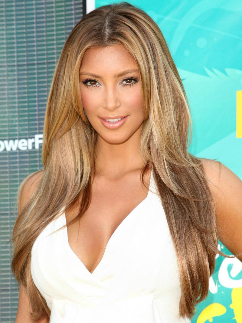 "16"" - 26"" Kim Kardashian Layered Straight Custom Human Hair Wig"