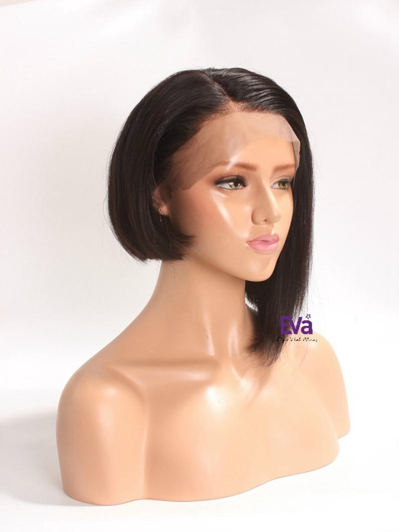 "Trendy Asymmetrical Cut 4"" Lace Front Virgin Human Hair Wig"