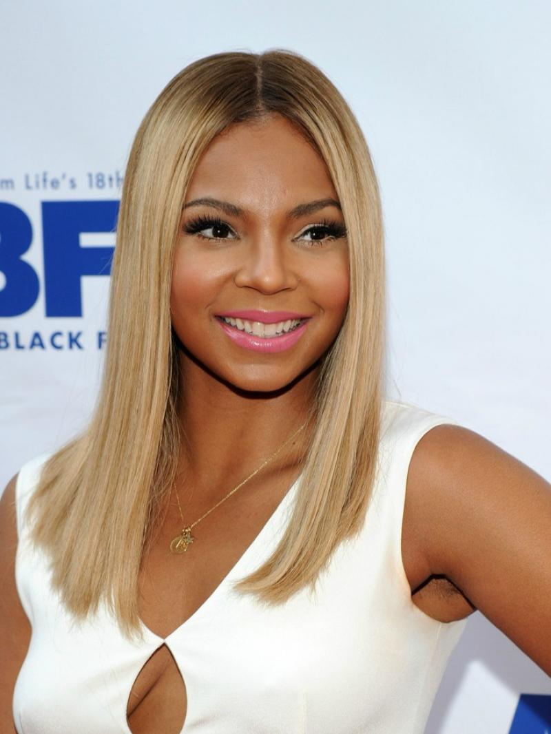 "Ashanti Inspired Custom 10""-16"" Blonde Lob Human Hair Full Lace Wig"