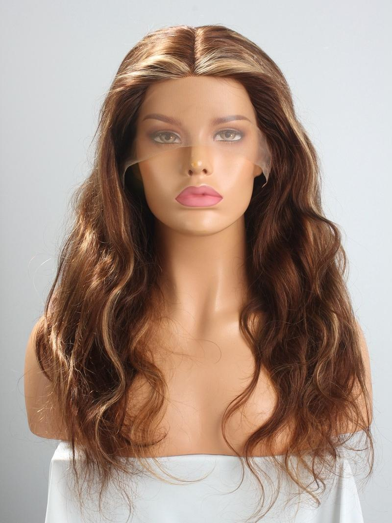 New In 8'-22' CUSTOM COLOR WITH HIGHLIGHT T Cap Construction Wig