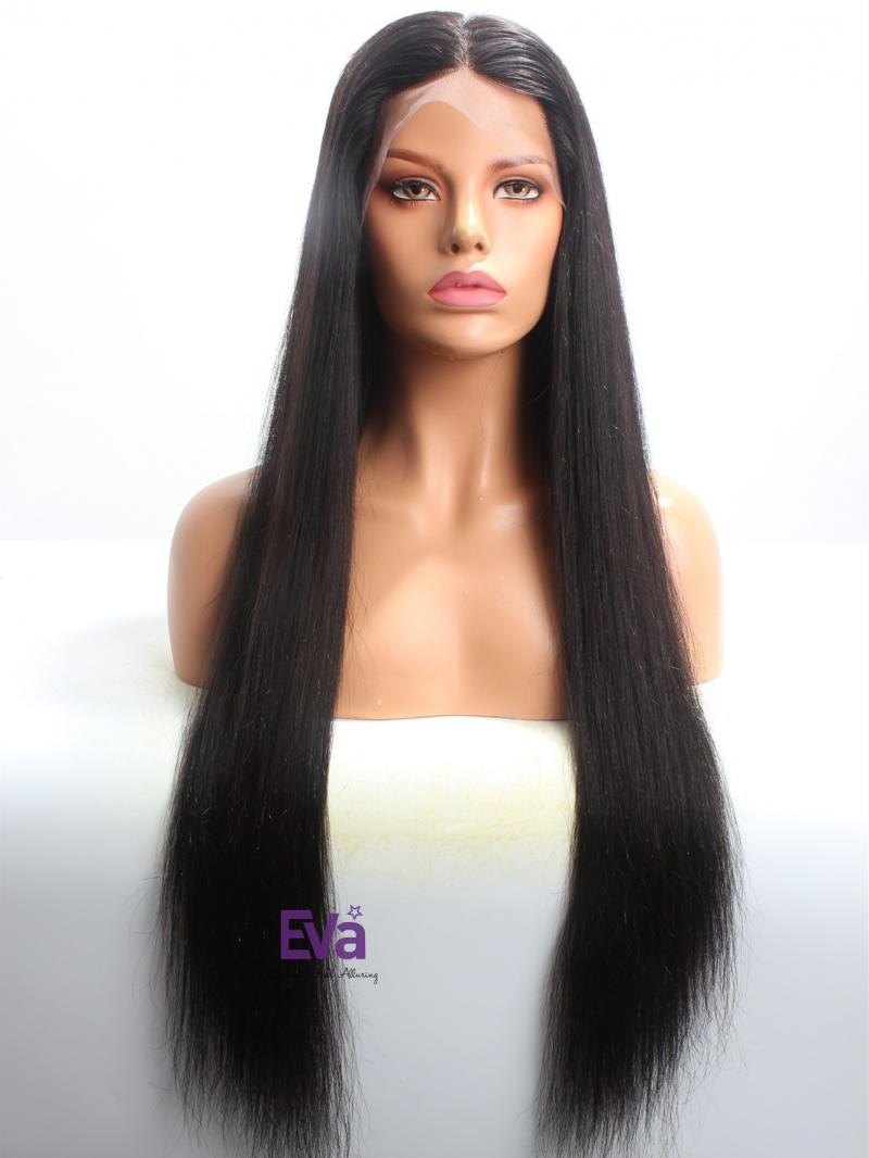 "26"" Long Silky Straight Virgin Hair Custom Full Lace Wig"