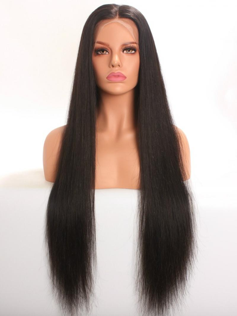 Limited Quantity Celebrities Favorite Style Hip-length Long Silky Straight Human Hair Full Lace Wig