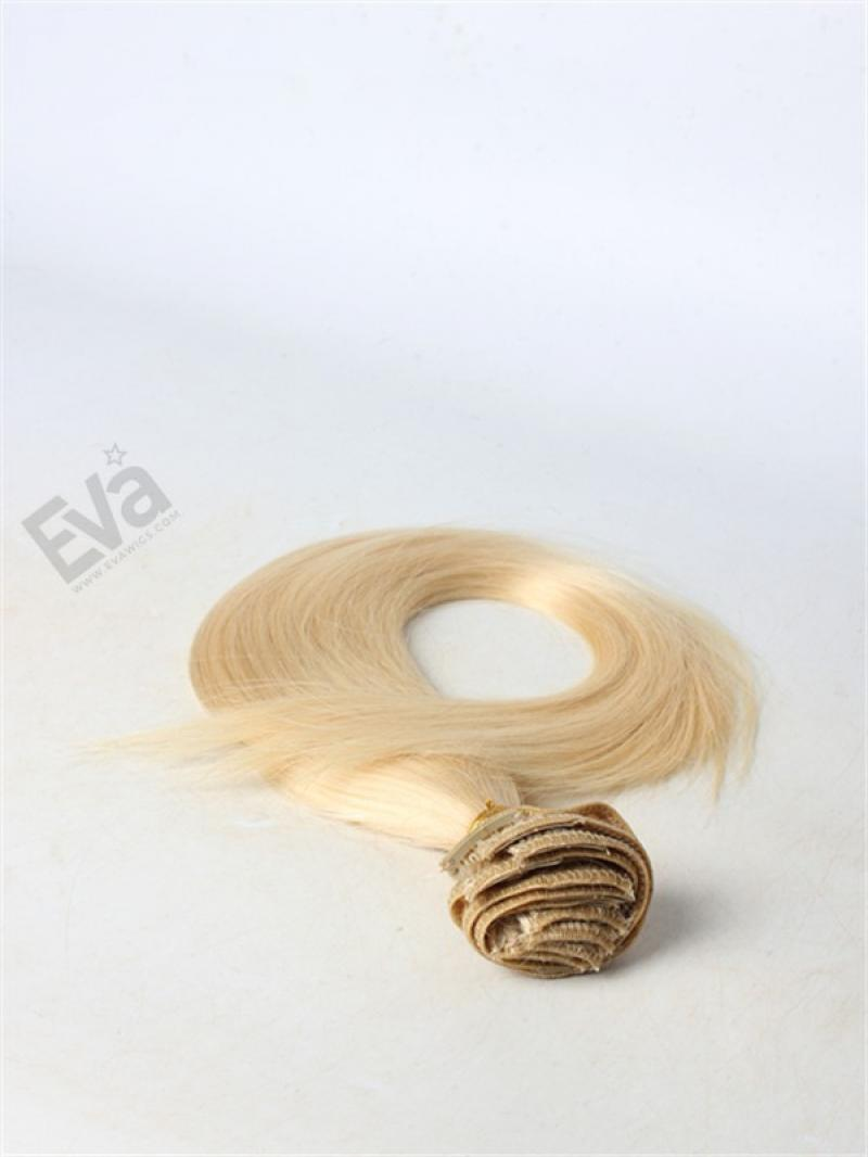 Blonde #613 Clip In 100%  Brazilian Virgin Hair Extension
