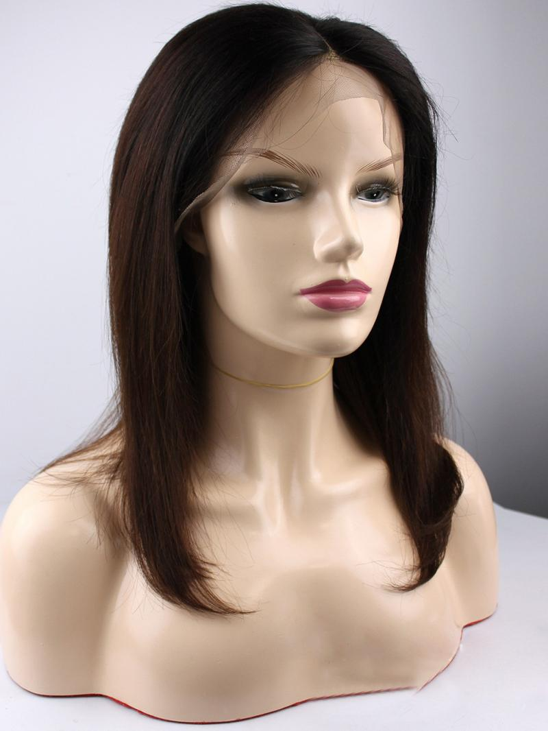 NEW IN 8'-22' NATURAL BLACK WITH HIGHLIGHT T CAP CONSTRUCTION WIG