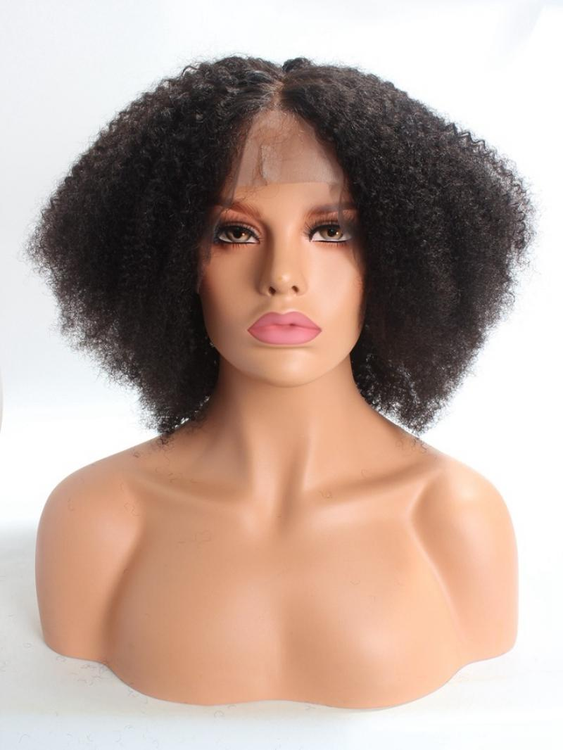 Natural Kinky Coily Full Lace Virgin Human Hair Wig