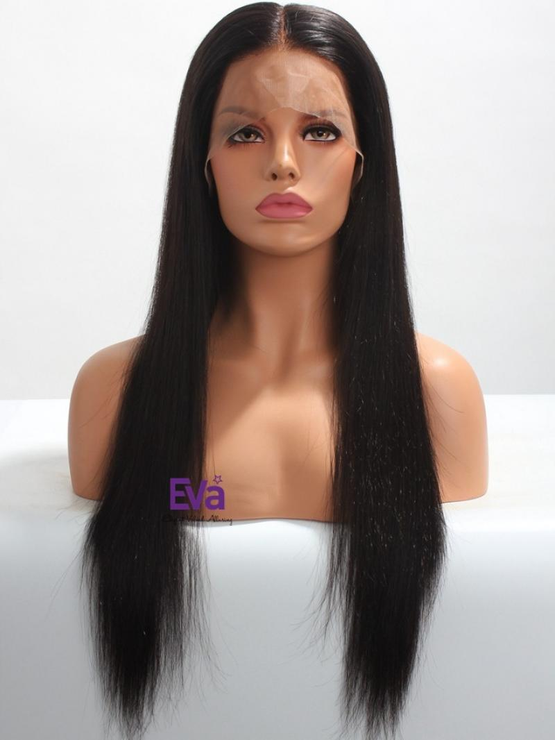 "Ready to Ship 4"" Lace Parting Silky Straight Lace Front Wig"