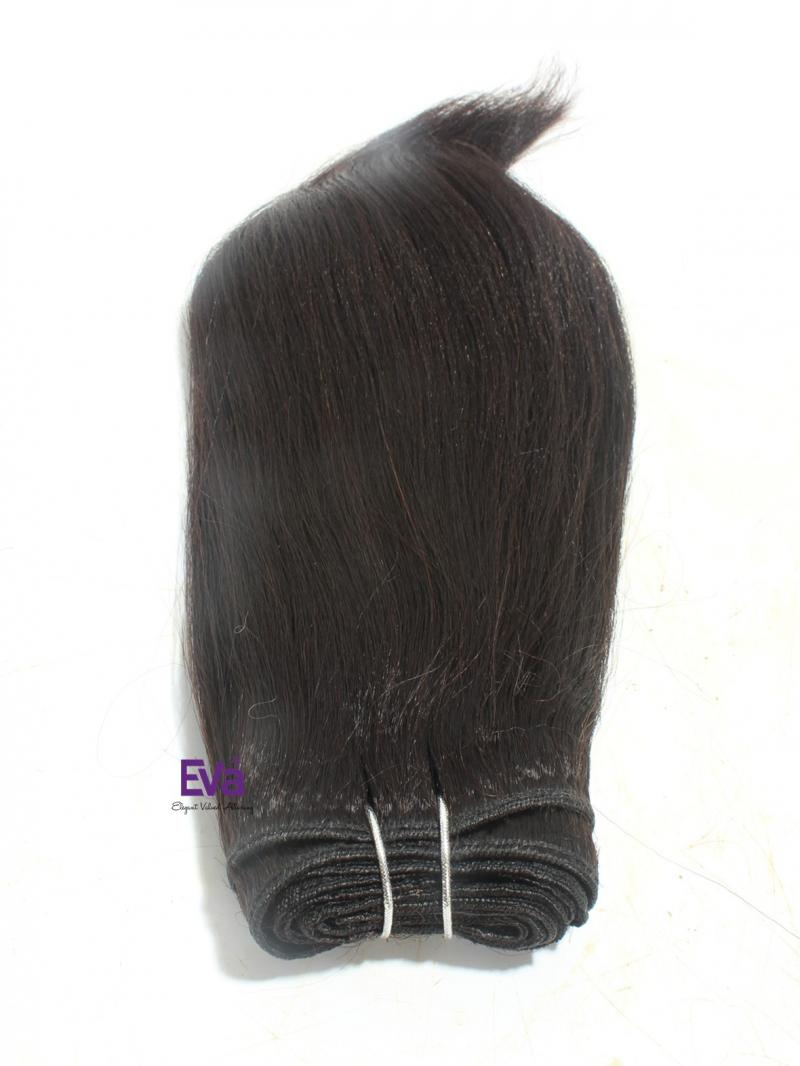 "10"" Black Kinky Straight 100% Human Hair Weave"