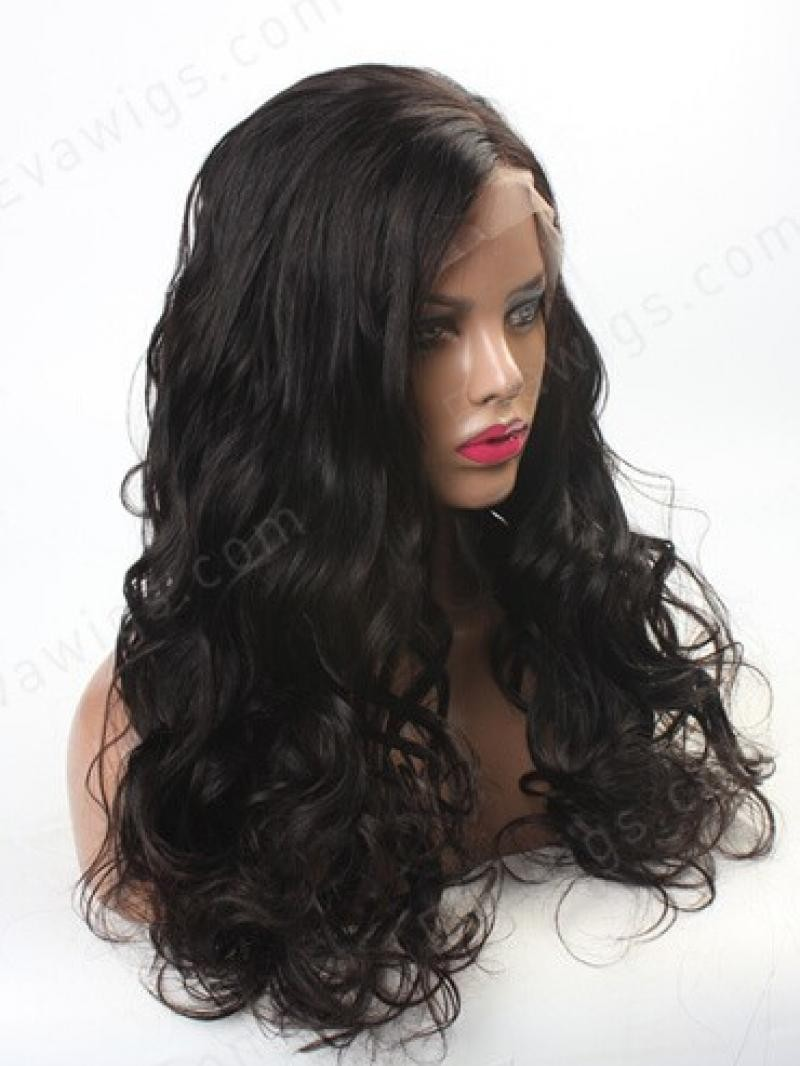 "18"" JET BLACK 3"" FRONT LACE PARTING WIG"