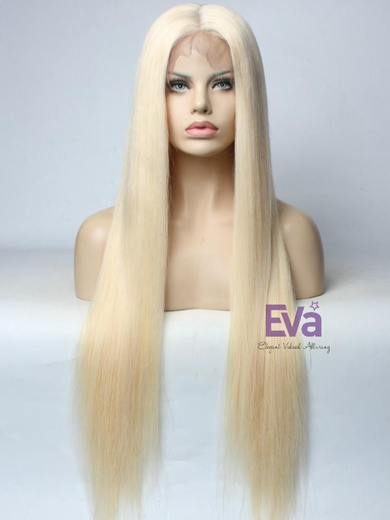 Platinum Blonde Full Lace Virgin Human Hair