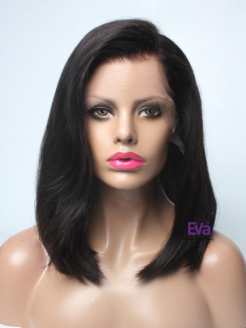 Caitlyn Full Lace Human Hair Wig Medium Length Casual