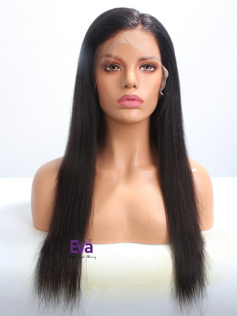 "Ready To Ship 20"" 180% Density Straight Virgin Hair Full Lace Wig"