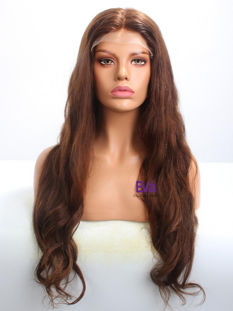 "Ready To Ship 26"" Long Loose Wavy Full Lace Human Hair Wig"