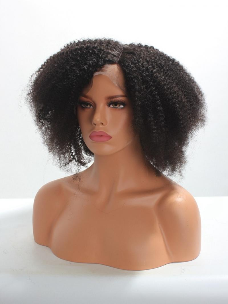 Type 4 Natural Short Curly Hair Full Lace Human Hair Wig