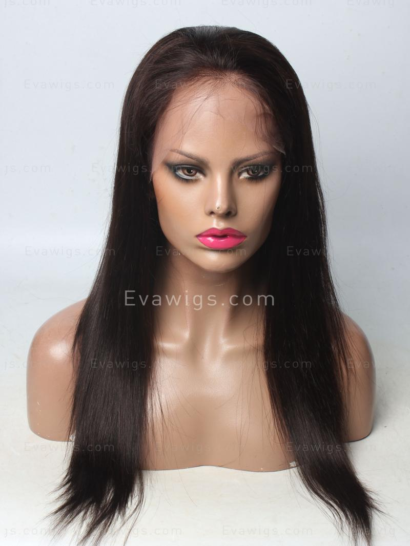 Gorgeous free parting Straight Full Lace Human Hair Wig