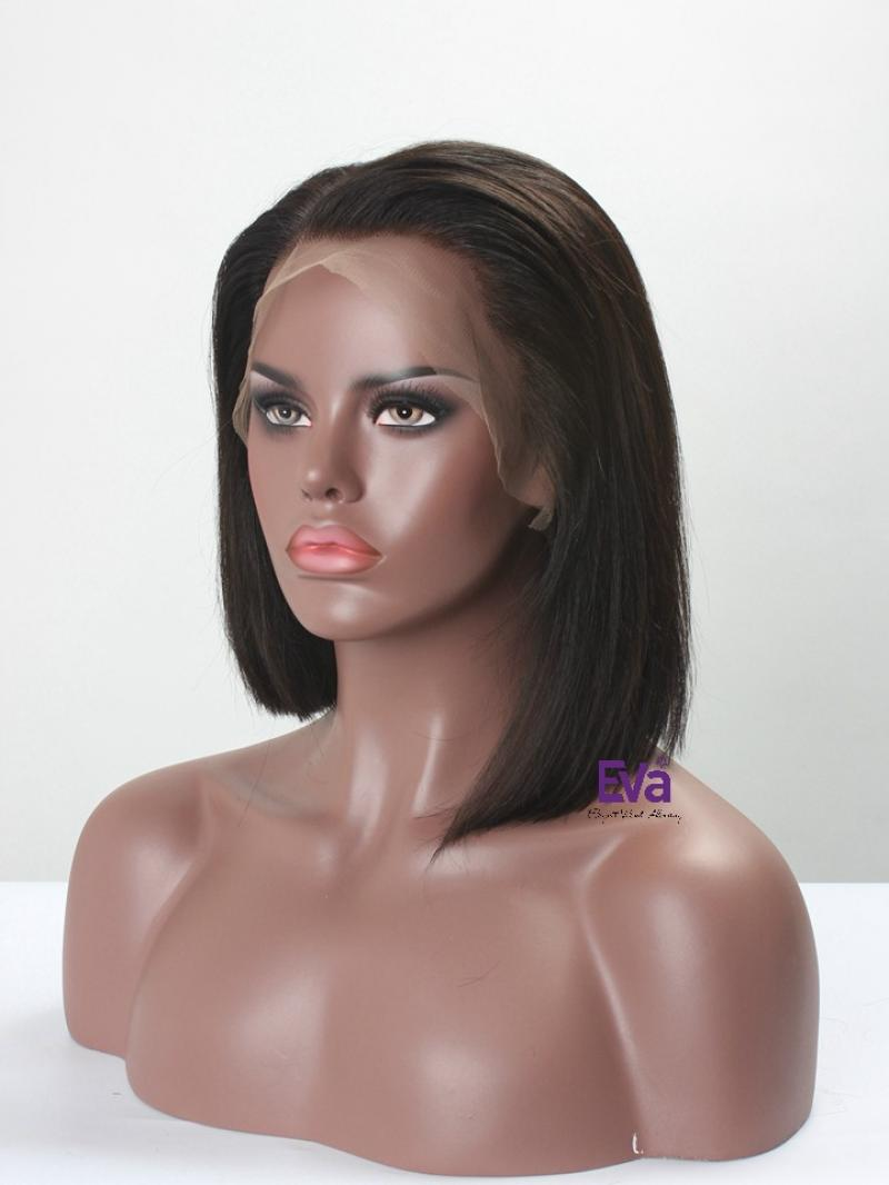 Pre-plucked Hairline Short Bob Full Lace Human Hair Wig