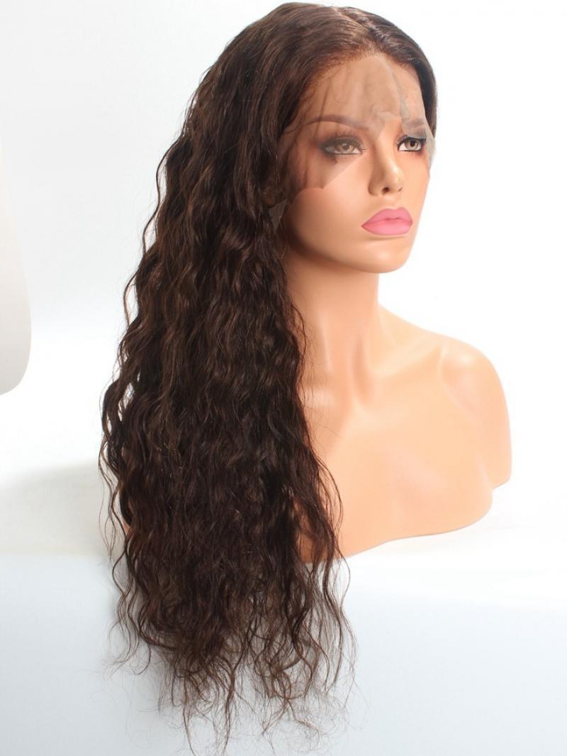 """22"""" Wavy Human Hair 360 Lace Wig"""