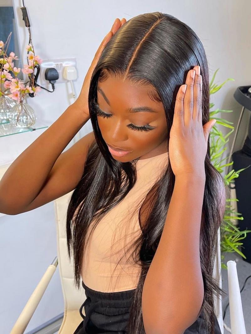 """Made-to-Order - 16""""-22"""" Silky Straight 5*5 Undetectable HD Lace Closure Human Hair Wig"""