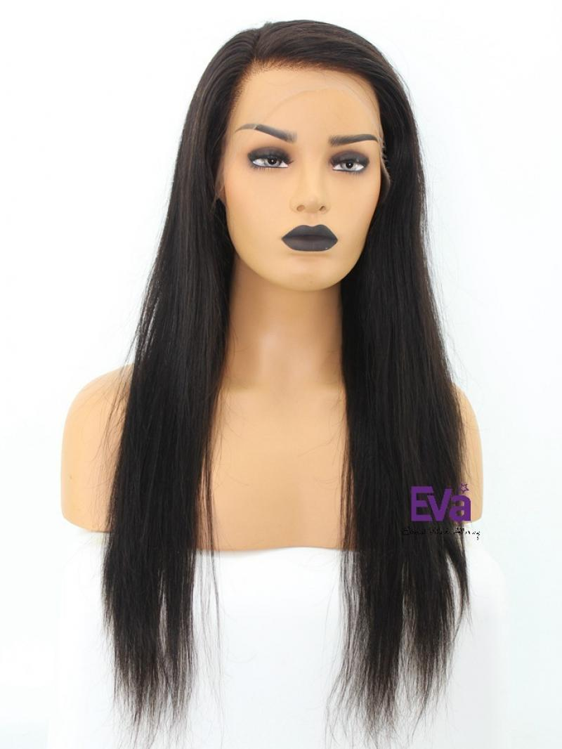 "22"" HD SILKY STRAIGHT 6"" LACE FRONT PETITE SIZE WIG"