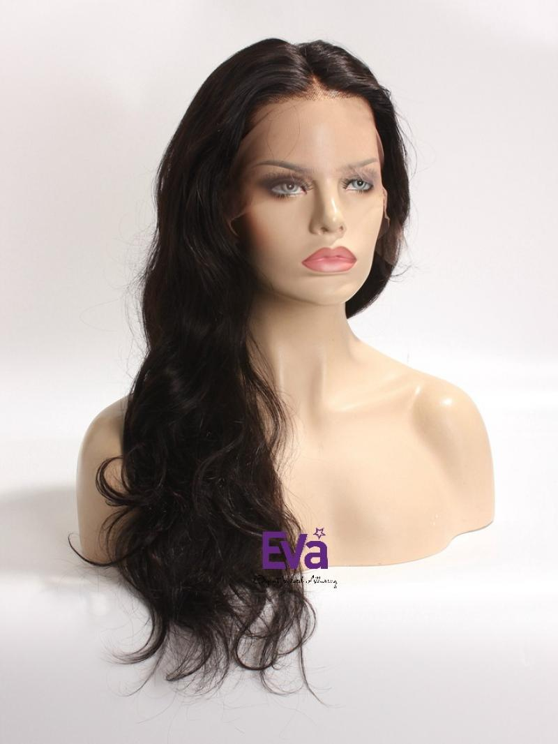"In Stock 4"" Lace Front Human Hair Wig in Sexy Wavy Style"