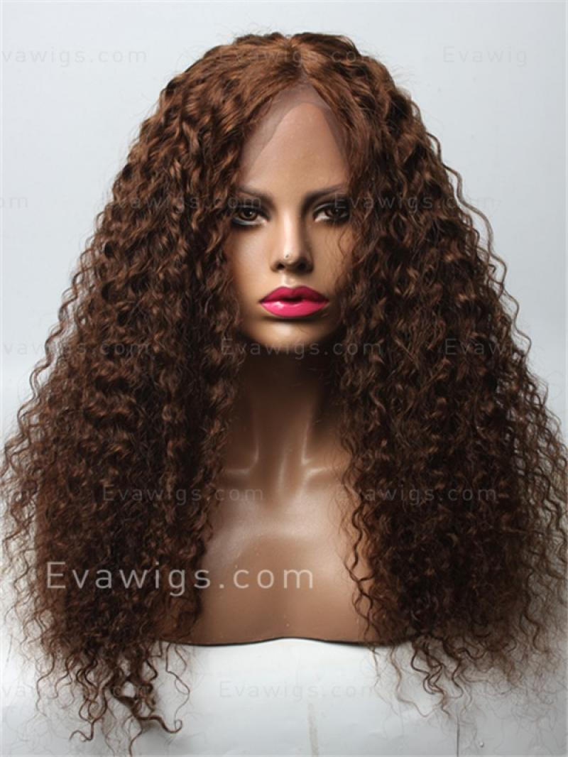 "22"" Long Brazilian Deep Wave Lace Front Human Hair Wig"