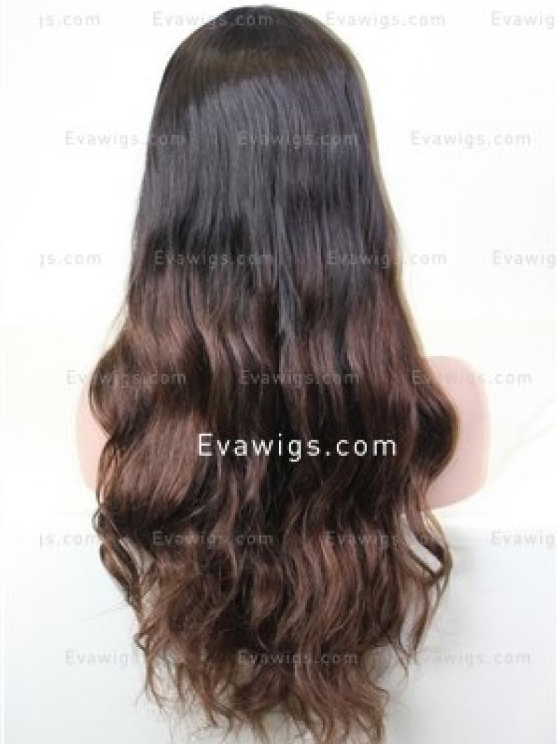 """18"""" 150% WAVY FULL LACE WIG WITH 5*5 SILK TOP"""