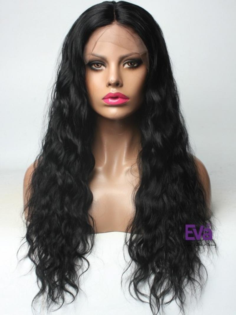 "24"" 150% WAVY FULL LACE WIG"