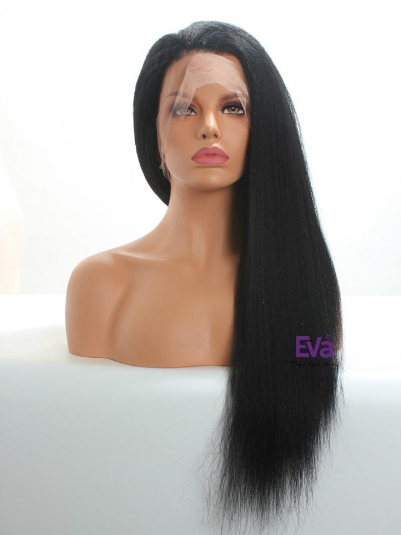 Kinky Straight Full Lace Human Hair Wig