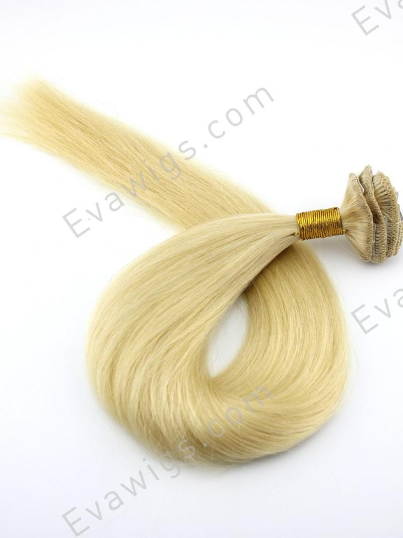 Blonde #613 Clip In 100% Virgin Human Hair Extension Multi-time Dyeable
