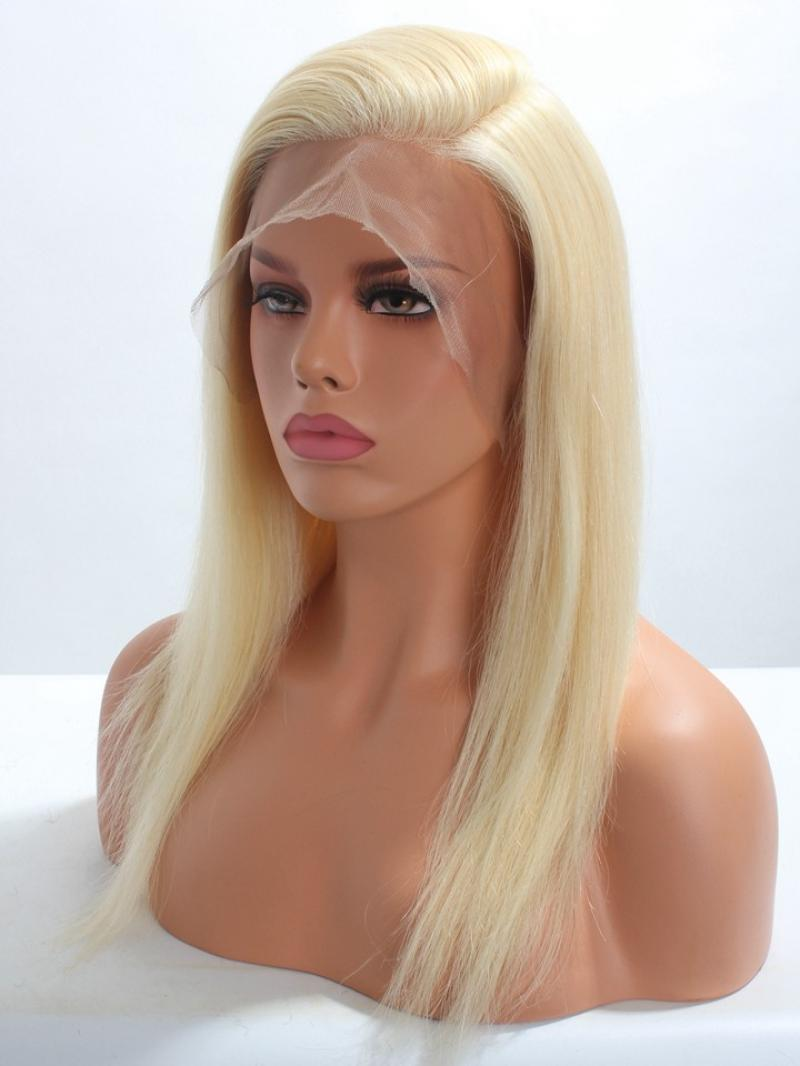 Blonde #613 Platinum Blonde Full Lace Virgin Human Hair Wig