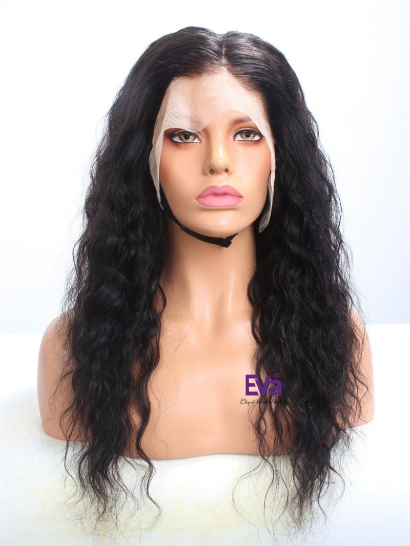 "Fake Scalp 6"" Deep Parting Cap 18"" 150% Density Wavy Lace Front Wig"