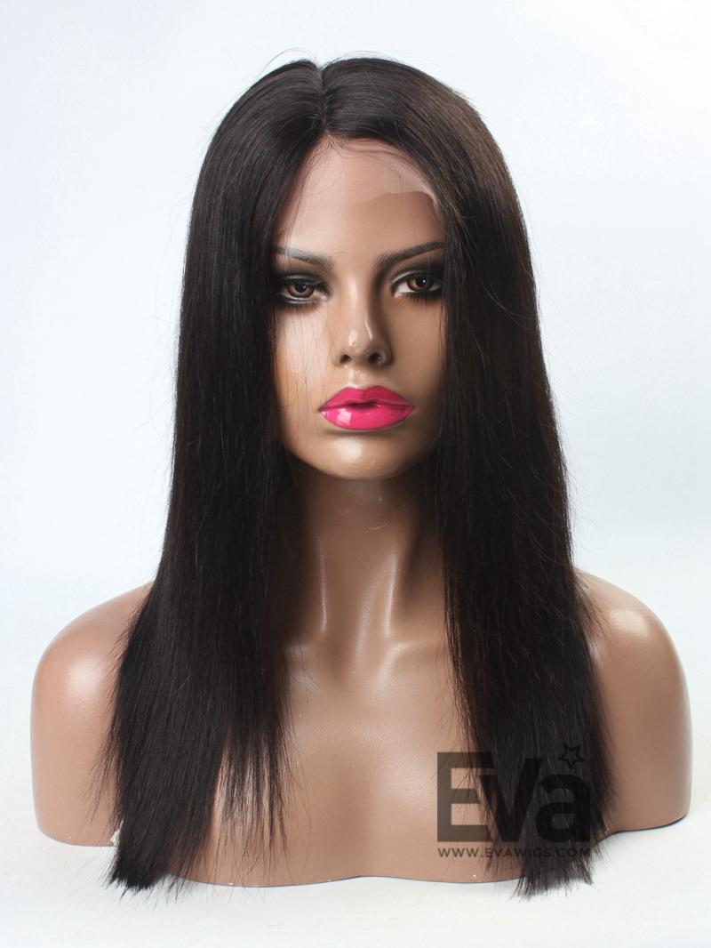Simple and Elegant Silky Straight Full Lace Human Hair Wig