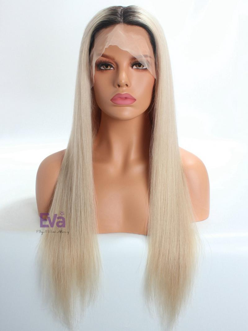Luxury Silk Top Pastel Blonde Full Lace Virgin Human Hair Wig