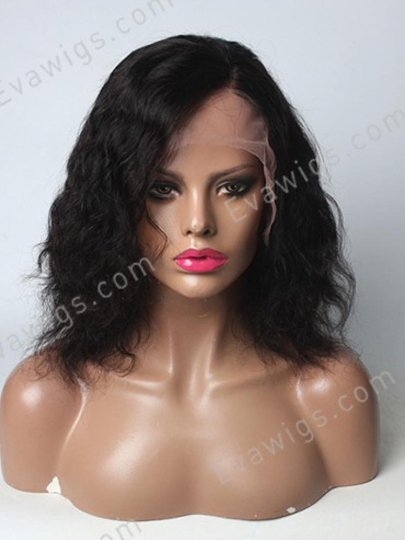 """12"""" Short Wavy Hair with Side Part Full Lace Human hair Wig"""