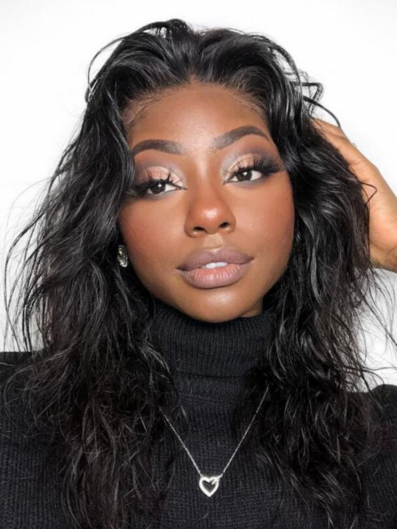 """13*4"""" Lace Front Wavy Human Hair Wig"""