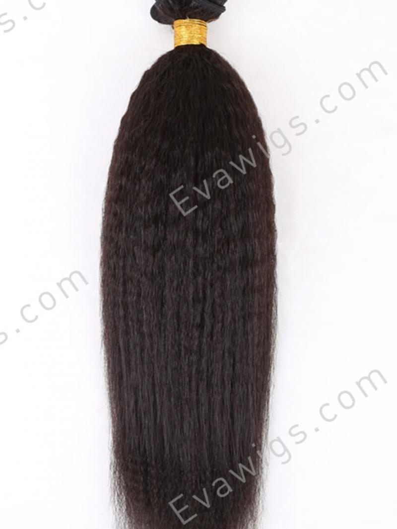 Kinky Straight 100% High Quality Human Hair Weave