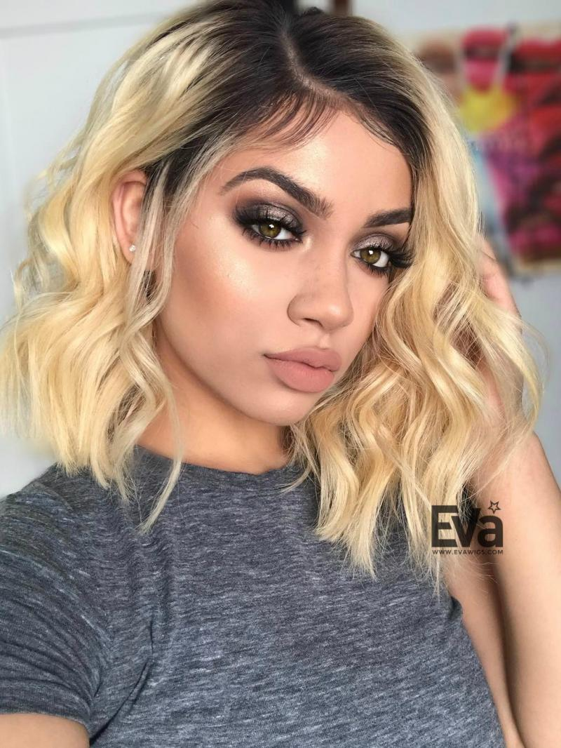 "Myesha - 10"" - 16"" Custom Blonde Bob Virgin Human Hair Full Lace Wig"