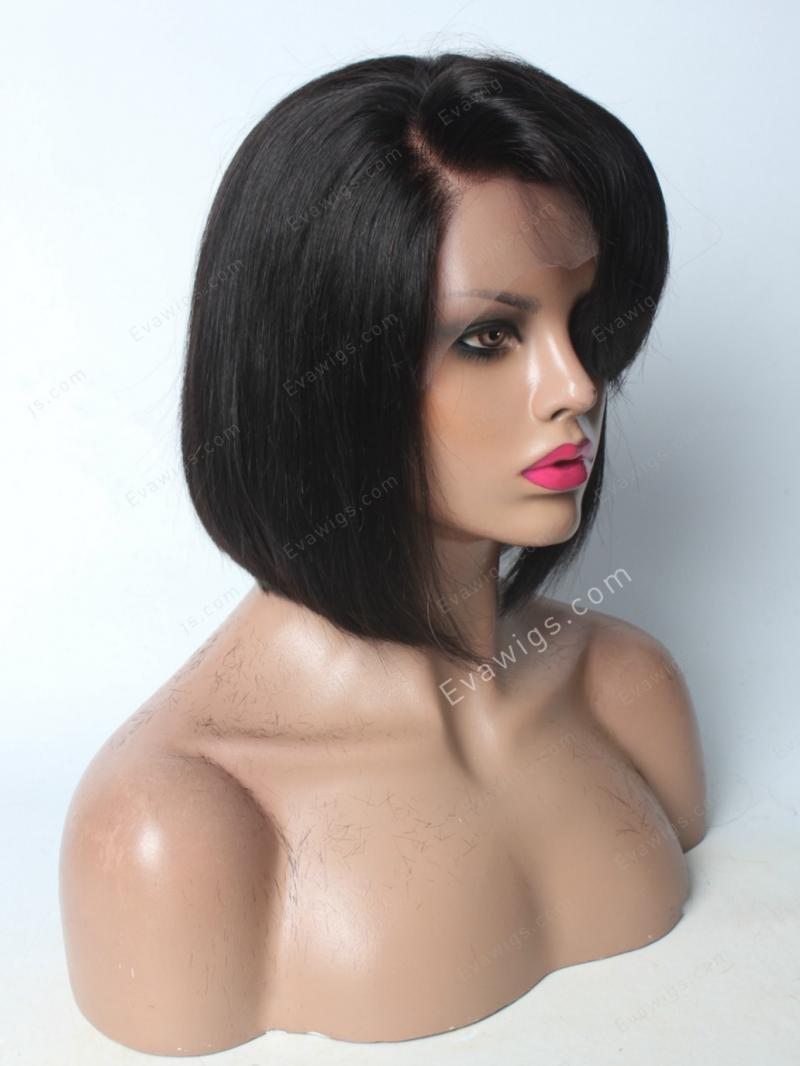 "12"" 130% MEDIUM REDDISH BROWN SILKY STRAIGHT 3"" LACE FRONT WIG"