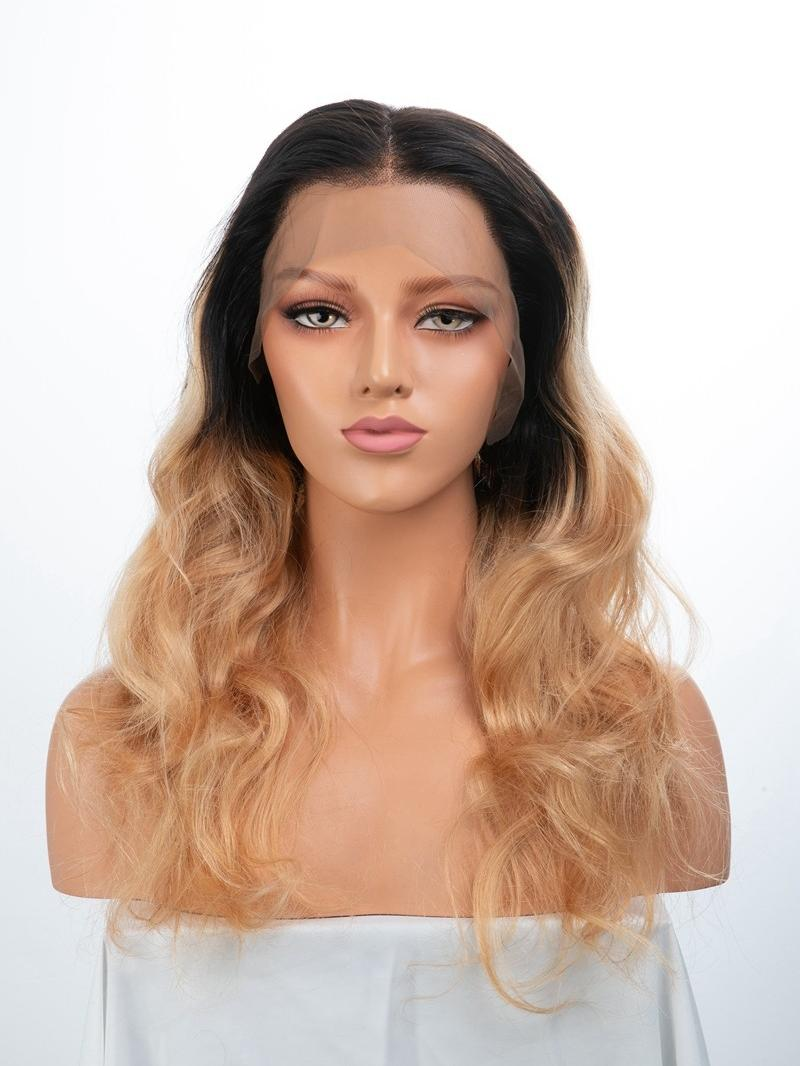 "20"" CUSTOMIZED COLOR WAVY 4"" LACE FRONT WIG"