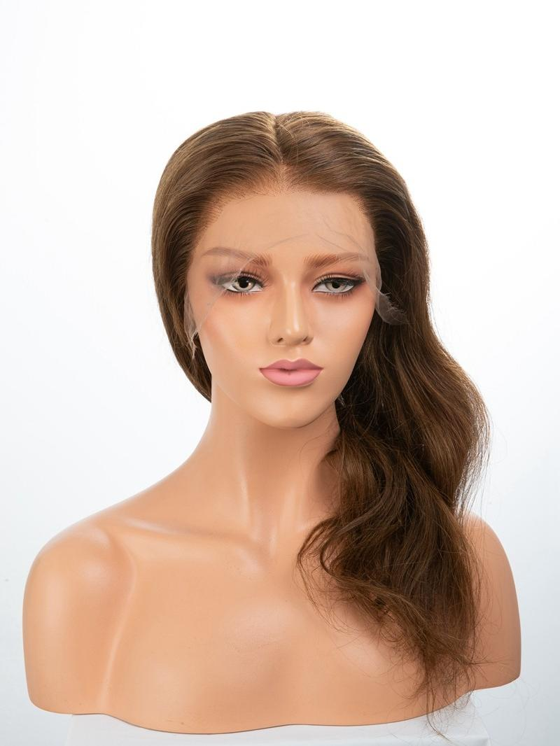 """16"""" 150% CHESTNUT BROWN HD FULL LACE PETITE SIZE WIG"""