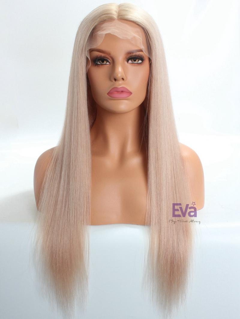 Luxury Gorgeous Pastel Pinky Blonde Full Lace Virgin Human Hair Wig